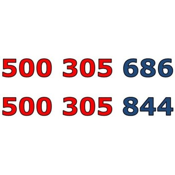 500 305 xxx ORANGE ŁATWY ZŁOTY NUMER STARTER x 3