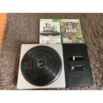 Konsola DJ Hero Xbox 360 + 2 Gry