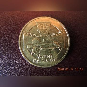 2 ZLOTE-60 ROCZNICA II WOJNY SW. 2005 r.-mennicze