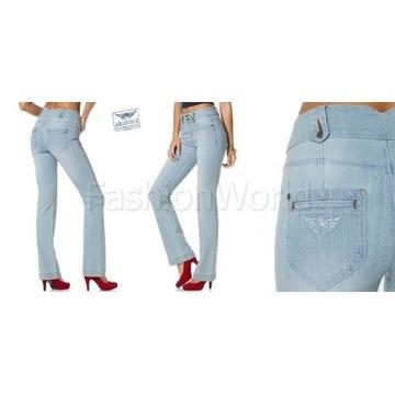 ARIZONA JEANS Spodnie Jeans Jasne Niebieskie__36/S