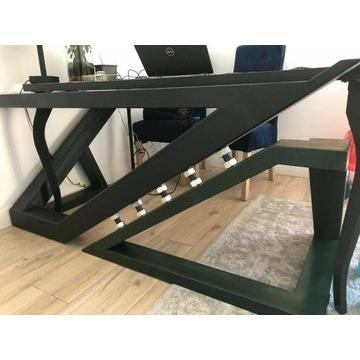 Designerskie biurko wykonane ze stali