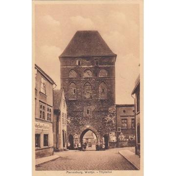 Pocztówka - Malbork (Marienburg) - Topfertor