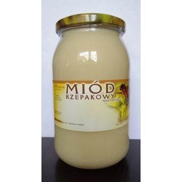 Miód rzepakowy z uli drewnianych