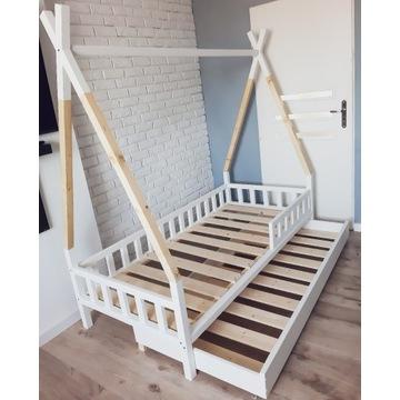 Łóżeczko tipi dla dzieci 160x80 z barierkami