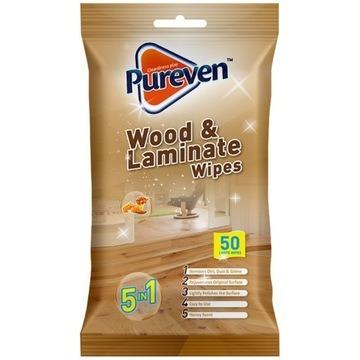 Pureven chusteczki mokre czyszczenia drewna 50szt