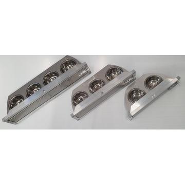 Karmidło obrotowe potrójne INOX/Aluminium