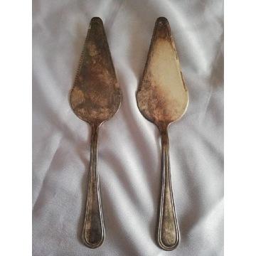 Antyki 2 Łopatki do ciasta w srebrze Silver Plated