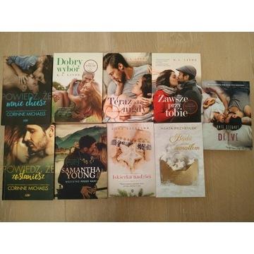 Zestaw 9 książek literatura kobieca