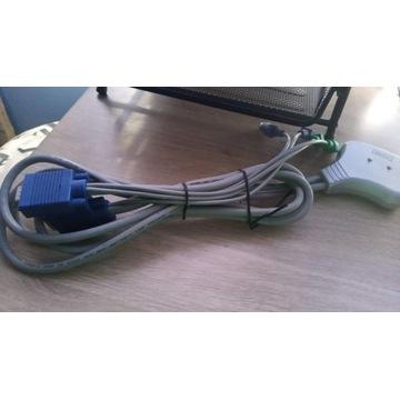 przełącznik KVM Digitus DC OC12 VGA+PS/2 z kablami