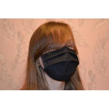 Modna bawełniana maska maseczka na twarz, Czarna