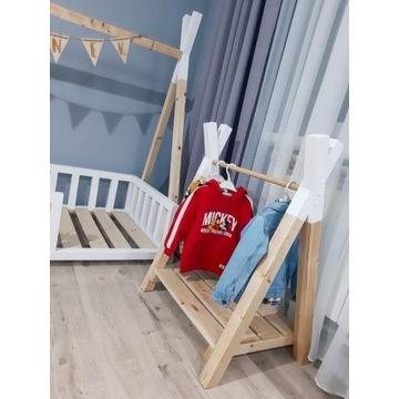 Garderoba drewniana, wieszak na ubranka dla dzieci