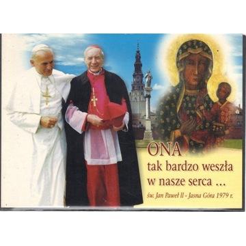 Stefan Wyszyński - JP II - Częstochowa - Pocztówka