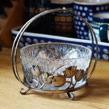 Cukiernica HEFRA Tulipany ze szklanym wkładem