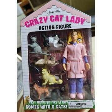 Crazy cat lady figurka nowa nieotwarta usa prezent