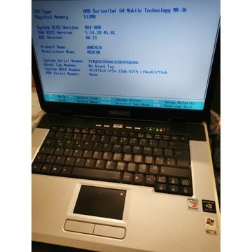 Laptop Medion MD 97900 WAM 2020 AMD Turion Sprawny