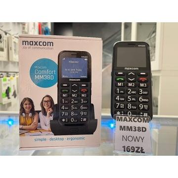 NOWY TELEFON MAXCOM MM38D DLA SENIORA STACJA