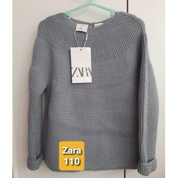 Sweter Zara 110 dla dziewczynki