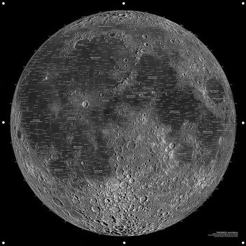 Mapa Księżyca 100 cm