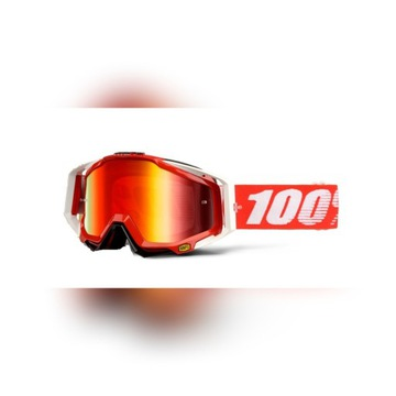 Gogle 100% RACECRAFT FIRE RED