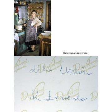 ś.p. KATARZYNA ŁANIEWSKA- autograf