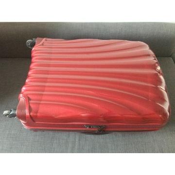 NOWA walizka Samsonite 94l, czerwona, GWARANCJA