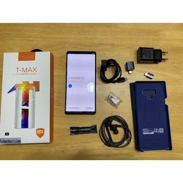 Samsung Galaxy Note 9 niebieski super szkło etui