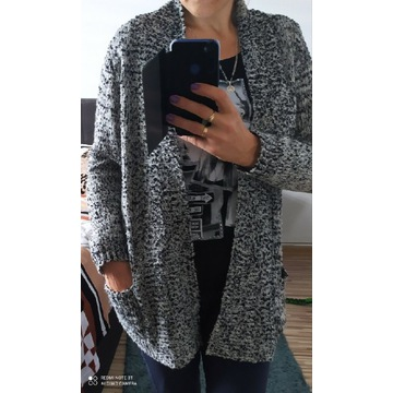 Cardigan sweter nie zapinany L XL OVS