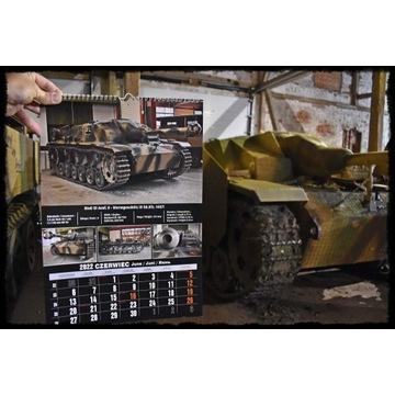 Kalendarz czołg - wojsko - militaria 2022