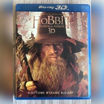 Hobbit: Niezwykła podróż. 3D + 2D [4 x BLU-RAY]