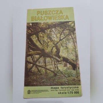 Puszcza Białowieska mapa turystyczna 1991