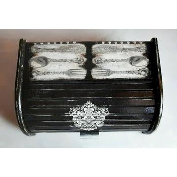 Chlebak, czarny, elegancki, handmade