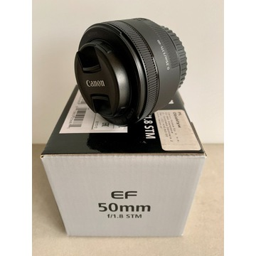 * Obiektyw CANON EF 50mm 1.8 STM * Ideał * komplet