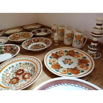 Ceramika Włocławek Fajans Hand Made Zestaw Naczyń