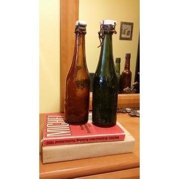 2 butelki z browaru HIRSCH OSTROWO (Ostrów)