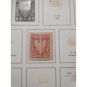 10 halerzy poczta polska 1919