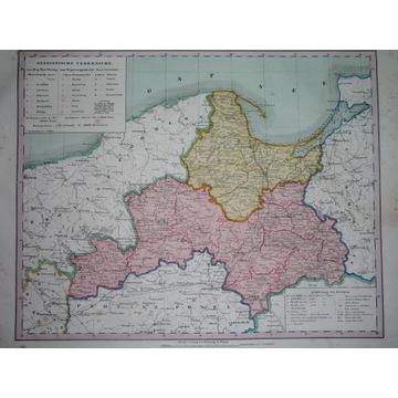 1855 MAPA PRUSY GDAŃSK TORUŃ ELBLĄG GDYNIA PIŁA