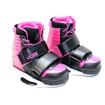 Różowe wiązania do deski wakeboard buty JOBE 36-37