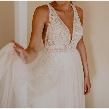 Suknia ślubna w bardzo dobrym stanie + sweterek
