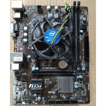 Płyta główna MSI H110M PRO-D + Procesor I5 6600