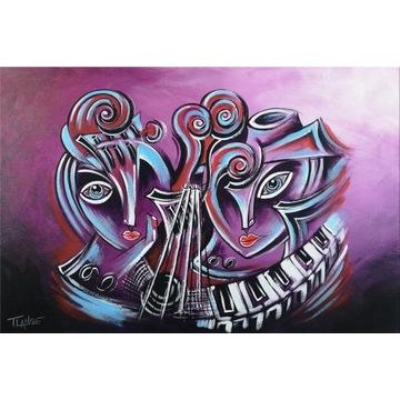 Music of Love - Obraz Olejny Kubizm Modern Art