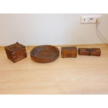 Drewniane szkatułki i kuferki