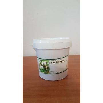 Miód Pszczeli Spadziowy Iglasty  wiaderko 1,5  kg