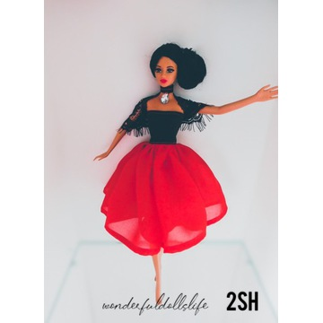 Sukienka hiszpańska ubranko dla lalki Barbie