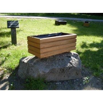 Donica drewniana , doniczki ogrodowe 50 x 25