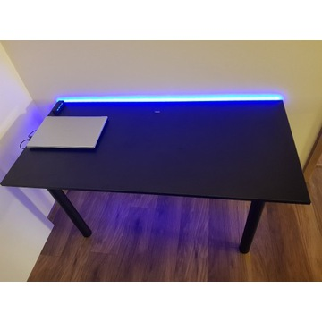 Biurka gamingowe komputerowe LED dla graczy