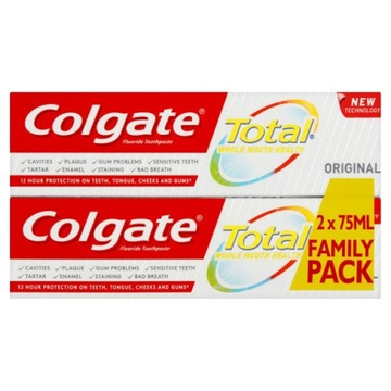 Colgate Total Original dwupak zestaw 2x75ml pasta