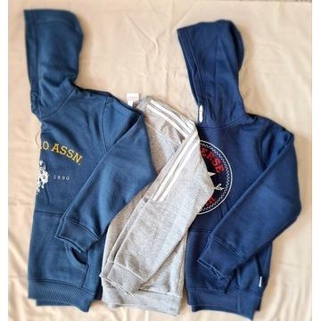 Zestaw bluz dla chlopca 10-12lat CONVERSE, ADIDAS