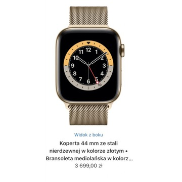 Apple Watch series 5 stainless steel gold 44mm