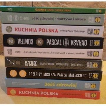 KUCHNIA LIDLA  x 9 książek (w tym pięć w folii)