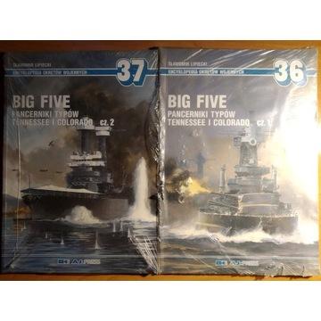 Big five Pancerniki typu Tennessee Colorado t. 1+2